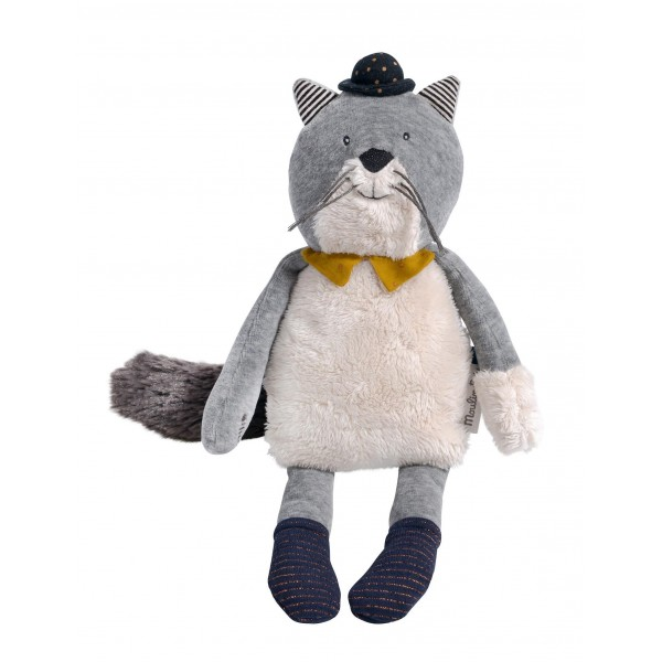 666022-Peluche_chat_gris_clair_Fernand_Les_Moustaches_Moulin_Rotycover